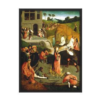 Martirio de la reproducción del renacimiento de lienzo envuelto para galerias