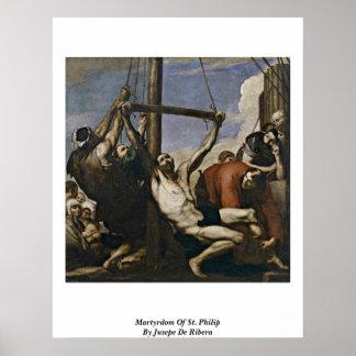 Martirio de St Philip de Jusepe De Ribera Posters