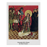 Martirio de St Thomas por Francke principal Poster