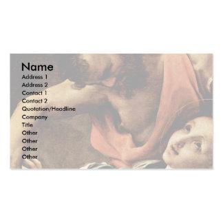 Martirio del detalle de cuatro santos por Correggi Plantilla De Tarjeta Personal