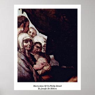 Martirio del detalle de St Philip de Jusepe De Rib Poster