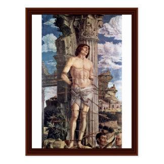 Martirio San Sebastián de Andrea Mantegna Postal