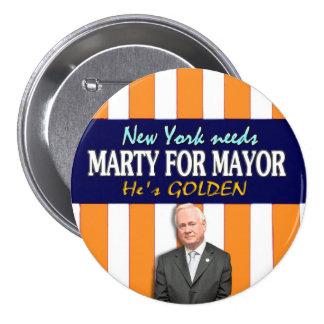 Marty de oro para el alcalde 2013 de NYC Pin