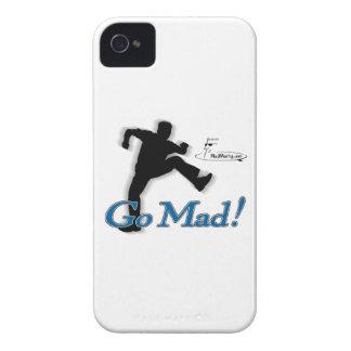 "Marty enojado ""va enojado!"" Caja de Blackberry iPhone 4 Fundas"