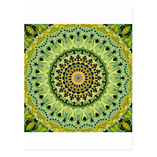 Marty Kaleidoscope Vintage Greens Postcard