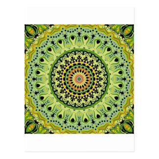 Marty Kaleidoscope Vintage Greens Postcard