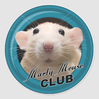 Marty Mouse Club Stickers (Round)