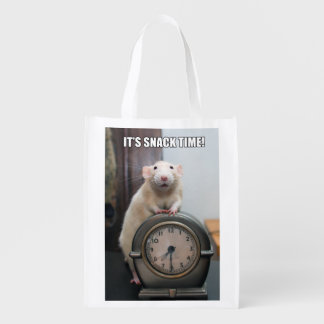 "Marty Mouse ""It's Snack Time"" Reusable Bag Market Totes"