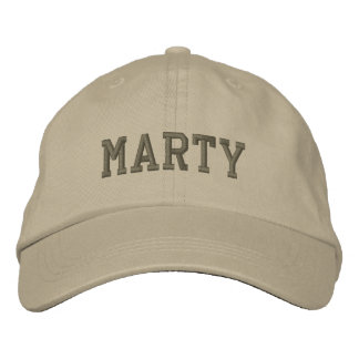 Marty Name Embroidered Baseball Cap / Hat