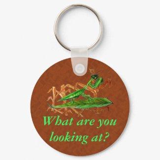 Marty the Praying Mantis keychain