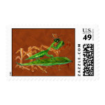 Marty the Praying Mantis Postage Stamps