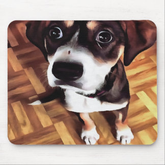 Marty The Soulful Eyed Dog Mouse Pad