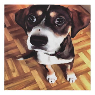Marty The Soulful Eyed Dog Panel Wall Art