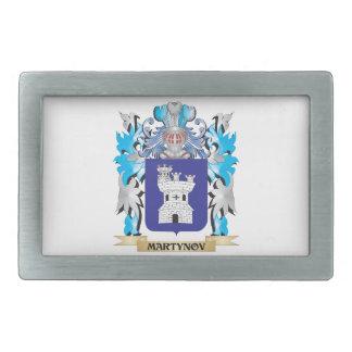 Martynov Coat of Arms - Family Crest Rectangular Belt Buckle