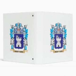 Martynov Coat of Arms - Family Crest Vinyl Binders
