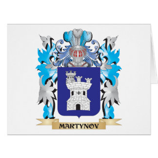 Martynov Coat of Arms - Family Crest Greeting Card