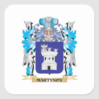 Martynov Coat of Arms - Family Crest Square Stickers