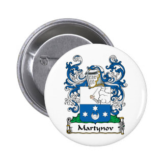 Martynov Family Crest Pinback Buttons