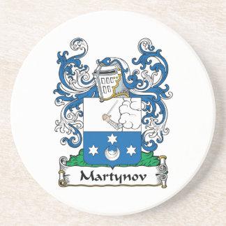 Martynov Family Crest Beverage Coasters