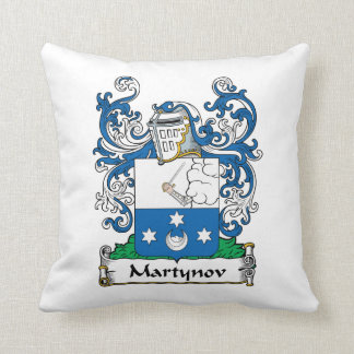 Martynov Family Crest Throw Pillow