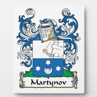 Martynov Family Crest Plaque