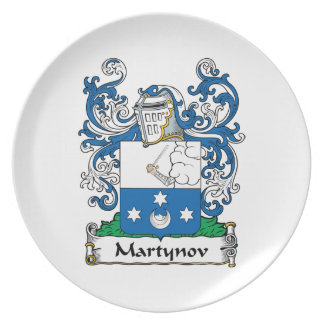 Martynov Family Crest Party Plates