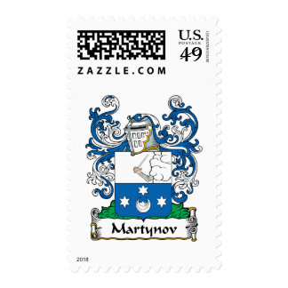 Martynov Family Crest Stamp