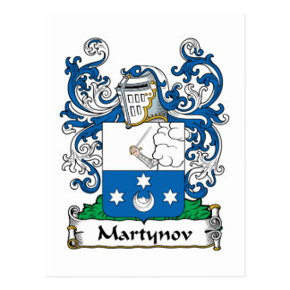 Martynov Family Crest Post Cards