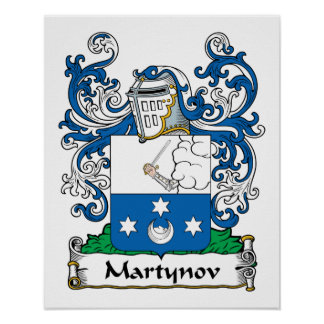 Martynov Family Crest Posters