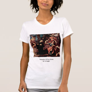 Martyrdom Of Four Saints By Correggio T Shirt