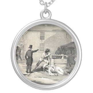 Martyrdom of Joseph & Hiram Smith in Carthage Jail Silver Plated Necklace