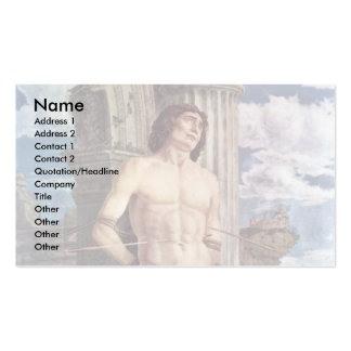 Martyrdom Of Saint Sebastian By Andrea Mantegna Double-Sided Standard Business Cards (Pack Of 100)