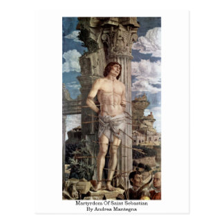 Martyrdom Of Saint Sebastian By Andrea Mantegna Postcard
