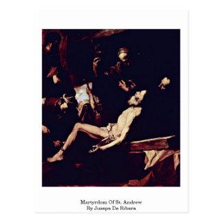 Martyrdom Of St. Andrew By Jusepe De Ribera Postcard