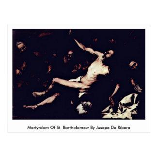 Martyrdom Of St. Bartholomew By Jusepe De Ribera Postcard