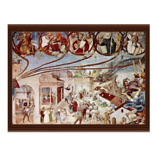 Martyrdom Of St Clare By Lotto Lorenzo Best Qual Postcards