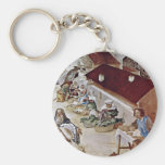 Martyrdom Of St. Clare Detail By Lotto Lorenzo (Be Keychain