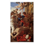 Martyrdom of St Erasmus by Nicolas Poussin (1628) Poster