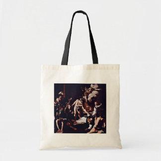 Martyrdom Of St. Matthew By Michelangelo Merisi Da Canvas Bag