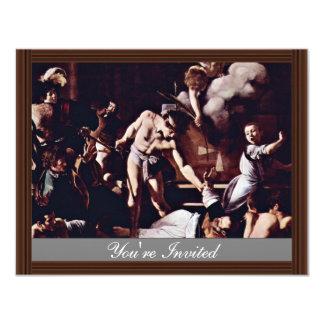 Martyrdom Of St. Matthew By Michelangelo Merisi Da Invites