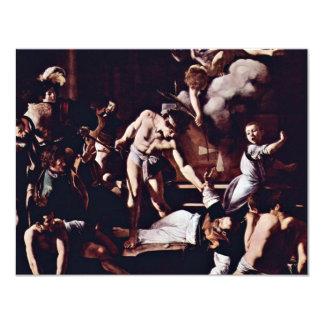 Martyrdom Of St. Matthew By Michelangelo Merisi Da Personalized Invitation