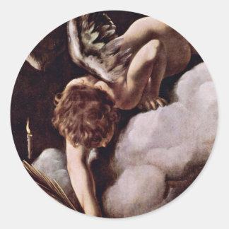 Martyrdom Of St. Matthew,  By Michelangelo Merisi Round Stickers