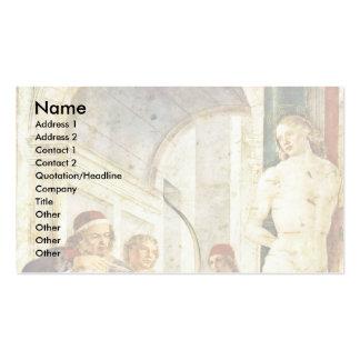 Martyrdom Of St. Sebastian, By Foppa Vincenzo Business Card Templates