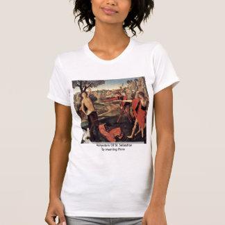 Martyrdom Of St. Sebastian By Memling Hans T Shirts