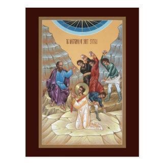 Martyrdom of St Stephen Prayer Card