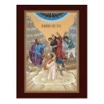 Martyrdom of St Stephen Prayer Card Postcards