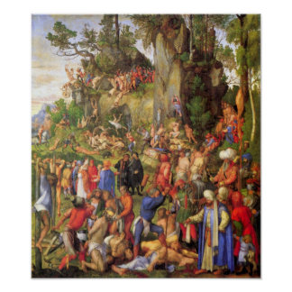 Martyrdom of ten thousand Christians by Durer Poster