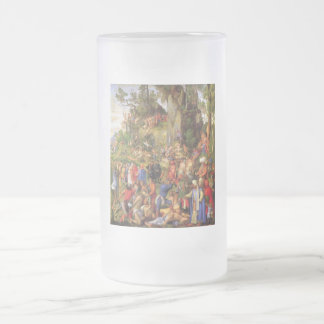 Martyrdom of ten thousand Christians Frosted Glass Beer Mug