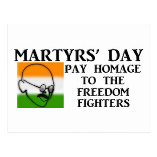 Martyrs' Day (India) Post Cards