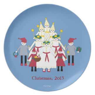 Martzkin St. Lucia Day Melamine Collector's Plate